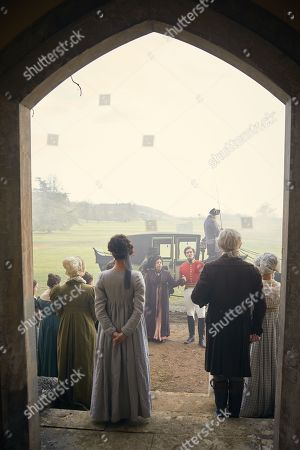 Stock Picture of Tom Bateman as Rawdon Crawley and Frances de la Tour as Lady Matilda Crawley.