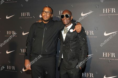 Honorees Jason Rembert, left, and Dapper Dan attend a fashion show and awards ceremony held by the Harlem Fashion Row collective and Nike before the start of New York Fashion Week