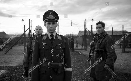 Stock Image of Milan Peschel as Freytag, Max Hubacher as Willi Herold, Frederick Lau as Kipinski