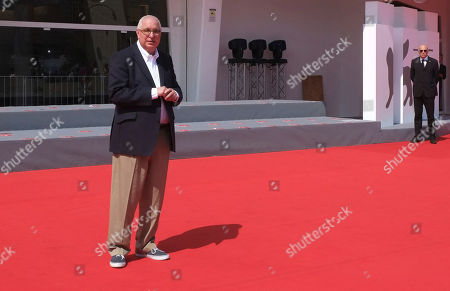 Director Errol Morris arrives for the screening of his film 'American Dharma' at the 75th edition of the Venice Film Festival in Venice, Italy