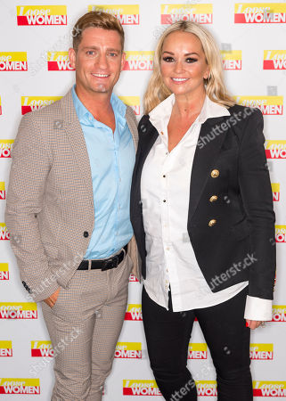 Stock Picture of Philip Olivier and Jennifer Ellison