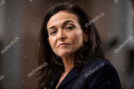 COO of Facebook Sheryl Sandberg testifies before a Senate Intelligence Committee hearing on 'foreign influence operations and their use of social media platforms' in the Dirksen Senate Office Building in Washington, DC, USA, 05 September 2018. Lawmakers are expected to ask the top executives what measures they are implementing to protect their online content from Russian propaganda and political censorship.  (Google) Larry Page was invited to testify but did not show.