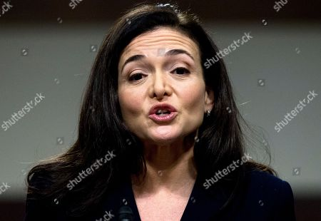 Facebook COO Sheryl Sandberg testifies before the Senate Intelligence Committee hearing on 'Foreign Influence Operations and Their Use of Social Media Platforms' on Capitol Hill, in Washington