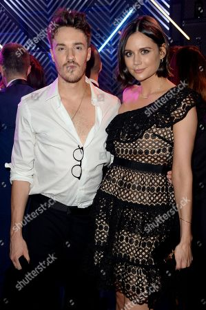 James Stewart and Lilah Parsons enjoy Haig Club cocktails at the GQ Men of the Year Awards 2018 at Tate Modern in London