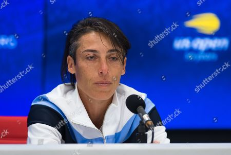 Stock Image of Francesca Schiavone of Italy announces her retirement from tennis
