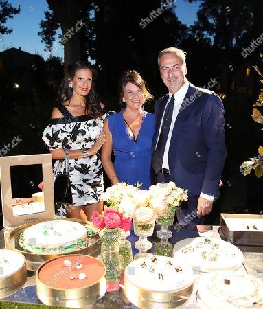 Stock Picture of CEO of Vhernier Carlo Traglio and Veronica Bocelli