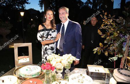 CEO of Vhernier Carlo Traglio and Veronica Bocelli