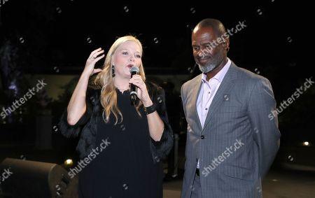 Melissa Peterman and Brian McKnight