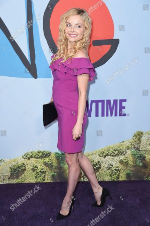 """Izabella Miko attends the LA Premiere of """"Kidding """"at ArcLight Hollywood, in Los Angeles"""