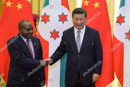 Chinese President Xi Jinping (R) shakes hands with Democratic Republic of Congo President Joseph Kabila Kabange (L) during a meeting at The Great Hall of People in Beijing, China, 06 September 2018.