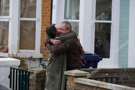 John Simm as Jonah Mulray and Dervla Kirwan as Megan Harris.