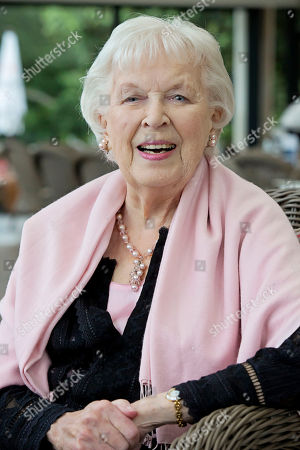 Actress Dame June Whitfield For Frances Hardy Interview.
