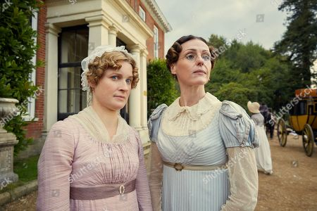 Stock Image of Suranne Jones as Miss Pinkerton and Kerry Gilbert as Jemima Pinkerton.