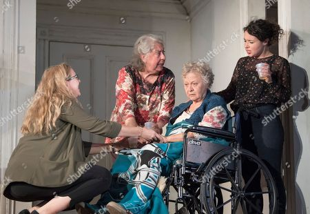 Stock Photo of Cassie Beck as Aimee, Jayne Houdyshell as Deidre, Lauren Klein as Fiona, Sarah Steele as Brigid,