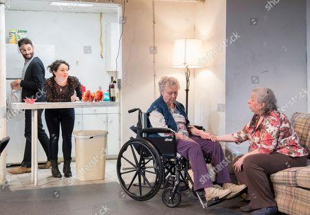 Arian Moayed as Richard, Sarah Steele as Brigid, Lauren Klein as Fiona, Jayne Houdyshell as Deidre