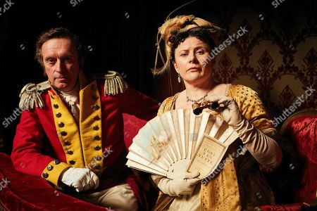 Patrick Fitzsymons as Major Michael O'Dowd and Monica Dolan as Mrs Peggy O'Dowd.