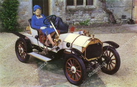 Dame Margaret Rutherford (1892-1972) Lady Montagu of Beaulieu and Her 1909 8 H.p. Humber Car. . Unattributed Postcard