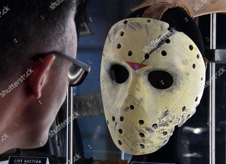 Jason Vorhees' Stunt Mask, played by Kane Hodder, from Jason (2001). Estimate £6,000-8,000