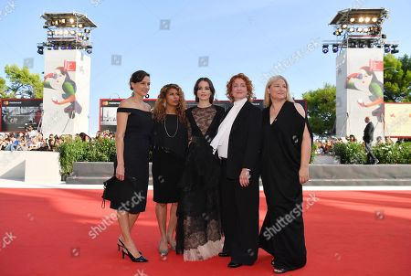 Stock Image of (L-R) Kristina Ceyton, Brenda Gilbert, Irish-Italian actress Aisling Francios, Australian filmmaker Jennifer Kent and Bruna Papandrea