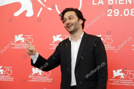 Director Gaston Solnicki poses for photographers at the photo call for the film 'Introduzione all'oscure' at the 75th edition of the Venice Film Festival in Venice
