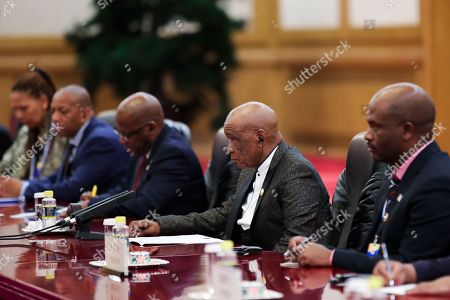 Prime Minister of Lesotho, Thomas Motsoahae Thabane (2-R) meets with Chinese President Xi Jinping (not pictured) during a meeting at The Great Hall of People in Beijing, China, 06 September 2018.