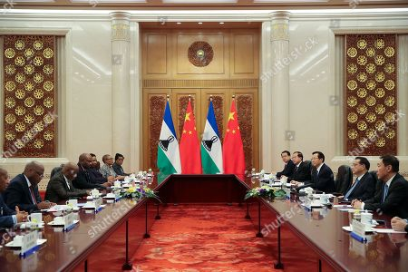Editorial image of Prime Minister Of Lesotho Visits China, Beijing - 06 Sep 2018