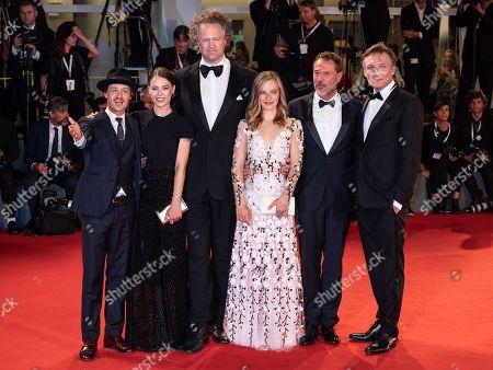 (L-R) Tom Schilling, Paula Beer, Director Florian Henckel Von Donnersmarck, Saskia Rosendahl, Sebastian Koch and Oliver Masucci