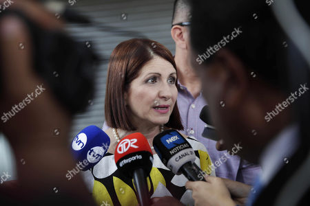 Editorial image of Former Panamanian first lady makes a statement in the Prosecutor's Office in corruption case, Panama City - 06 Sep 2018