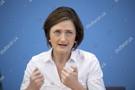 Simone Lange, mayor of Flensburg and German Social Democrat SPD, during a press call of the new left-wing political movement called Aufstehen, Stand Up