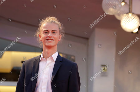 Actor Ludovico Girardello poses for photographers upon arrival at the premiere of the film 'Capri-Revolution' at the 75th edition of the Venice Film Festival in Venice, Italy