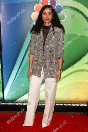Miranda Rae Mayo attends NBC's fall New York press junket at The Four Seasons Hotel, in New York