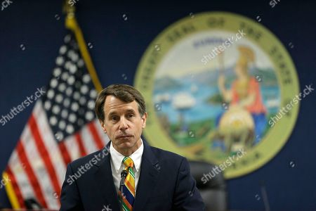 California Insurance Commissioner Dave Jones speaks during a news conference about the costs of recent wildfires, in San Francisco. Jones released the first data on the total insurance claims reported for residential and commercial losses following the Carr and Mendocino Complex wildfires. Commissioner Jones also released updated data for the 2017 California wildfires and 2018 mudslides