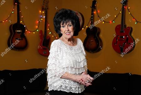 Stock Photo of Singer and songwriter Wanda Jackson poses in Nashville, Tenn