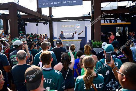 Editorial photo of Courtyard NFL Kickoff, Philadelphia, USA - 06 Sep 2018