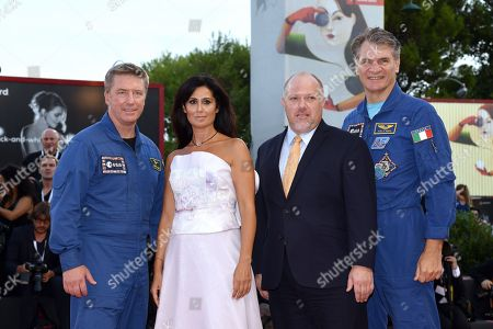 the astronauts Roberto Vittori and Paolo Nespoli with Director Alessandra Bonavina