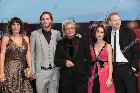 Director Mario Martone with Maximilian Dirr, Marianna Fontana, Reinout Scholten Van Aschat, Donatella Finocchiaro