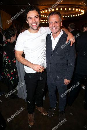 Aidan Turner (Padraic) and Michael Grandage (Director)