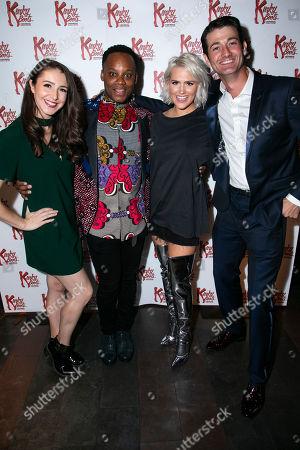 Cordelia Farnworth (Nicola), Simon-Anthony Rhoden (Lola), Natalie McQueen (Lauren) and Oliver Tompsett (Charlie Price)