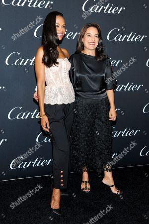 Zoe Saldana and Mercedes Abramo