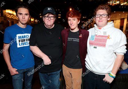 David Hogg, Michael Moore, Writer/Director/Producer, Ryan Deitsch, Matthew Deitsch
