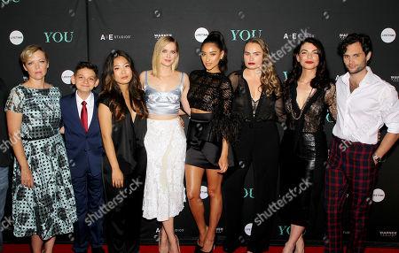 Emily Bergl, Luca Padovan, Nicole Kang, Elizabeth Lail, Shay Mitchell, Kathryn Gallagher, Sera Gamble (Exec. Producer), Penn Badgley