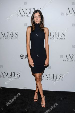 """Sadie Newman attends the """"Angels"""" by Russell James book launch and exhibition at Stephan Weiss Gallery, in New York"""