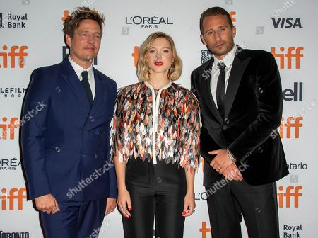 Danish director Thomas Vinterberg (L), French actress and cast member Lea Seydoux (C) and Dutch actor and cast member Matthias Schoenaerts (R) arrive for the screening of the movie 'Kursk' during the 43rd annual Toronto International Film Festival (TIFF) in Toronto, Canada, 06 September 2018. The festival runs from 06 to 16 September.