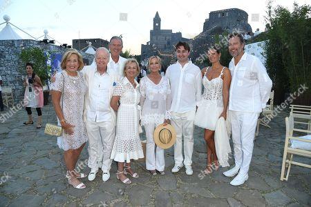 Founder and Chairman CFN Jimmy Walker with wife Nancy Walker, Bo Derek, Veronica Bocelli, and John Corbett