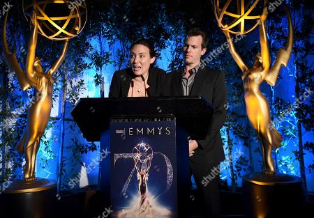 Lisa Joy, Jonathan Nolan. Lisa Joy, left, and Jonathan Nolan speak at The Television Academy's Casting Directors Nominee Reception at Mr. C Beverly Hills, in Beverly Hills, Calif