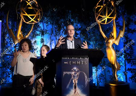 Jonathan Murray, Megan Bomgaars, Elena Ashmore. Jonathan Murray, from right, Megan Bomgaars and Elena Ashmore appear on stage at The Television Academy's Casting Directors Nominee Reception at Mr. C Beverly Hills, in Beverly Hills, Calif