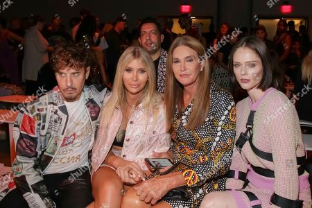 Steven Klein, Sophia Hutchins, Caitlyn Jenner, Coco Rocha. Steven Klein, from left, Sophia Hutchins, Caitlyn Jenner and Coco Rocha attend the Jeremy Scott Runway Show at Spring Studios during New York Fashion Week, in New York