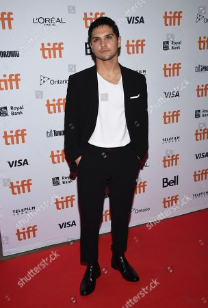 """Augusto Aguilera attends the premiere for """"The Predator"""" on day 1 of the Toronto International Film Festival, at the Ryerson Theatre, in Toronto"""