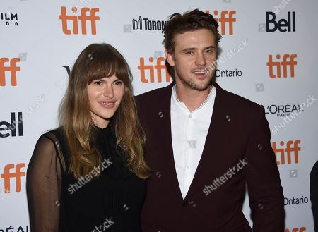 """Boyd Holbrook, Tatiana Pajkovic. Actor Boyd Holbrook and girlfriend Tatiana Pajkovic attend the premiere for """"The Predator"""" on day 1 of the Toronto International Film Festival, at the Ryerson Theatre, in Toronto"""