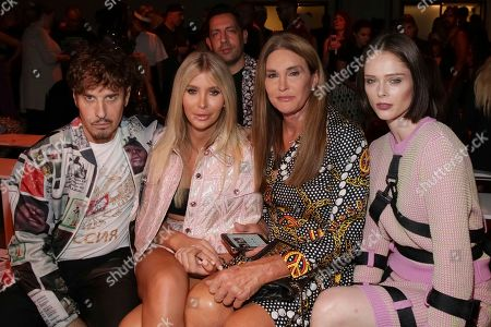 Steven Klein, Sophia Hutchins, Caitlyn Jenner, Coco Rocha. Steven Klein, from left, Sophia Hutchins, Caitlyn Jenner and Coco Rocha attend the Jeremy Scott Runway Show at Spring Studios during New York Fashion Week on in New York